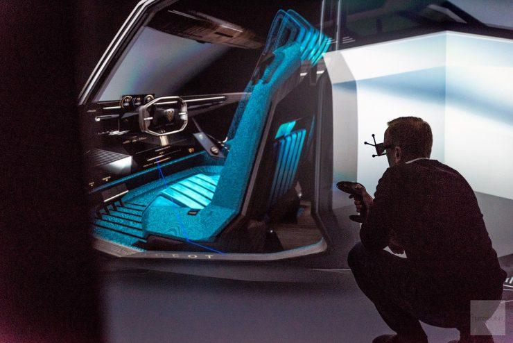 Peugeot P18 Paris Motor Show 2018 E Legend Concept Car CAVE simulateur numerique