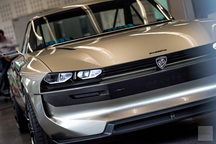 Peugeot P18 Paris Motor Show 2018 E Legend Concept Car detail face avant