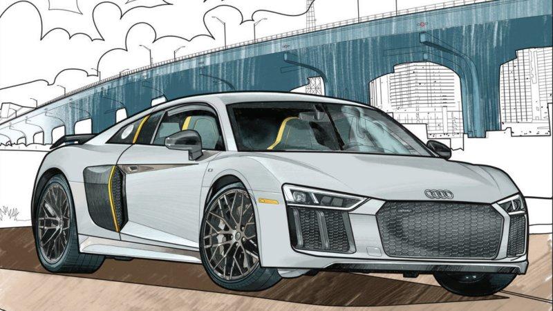 Audi R8 coloriage