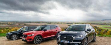 Essai comparatif SUV hybrides rechargeables BMW X1 xDrive25e DS 7 Crossback E-Tense Volvo XC40 T5 Recharge