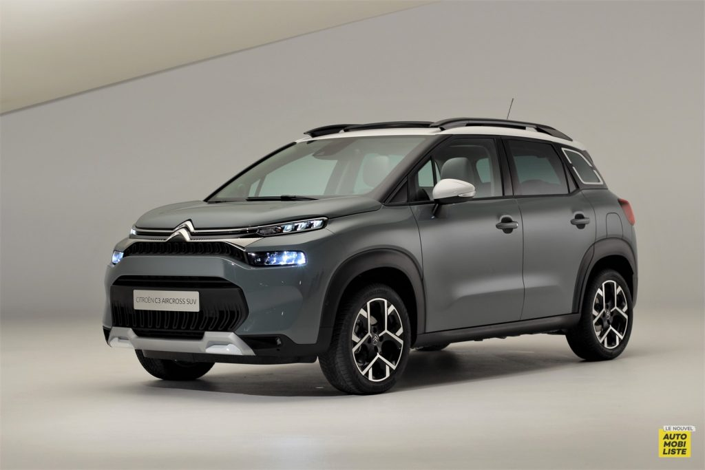 Citroën C3 Aircross restylé 2021 Shine Pack Kaki Grey Le Nouvel Automobiliste