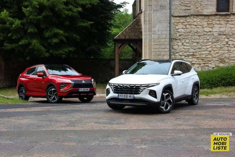 Comparatif Hyundai Tucson et Mitsubishi Eclipse Cross hybrides rechargeables