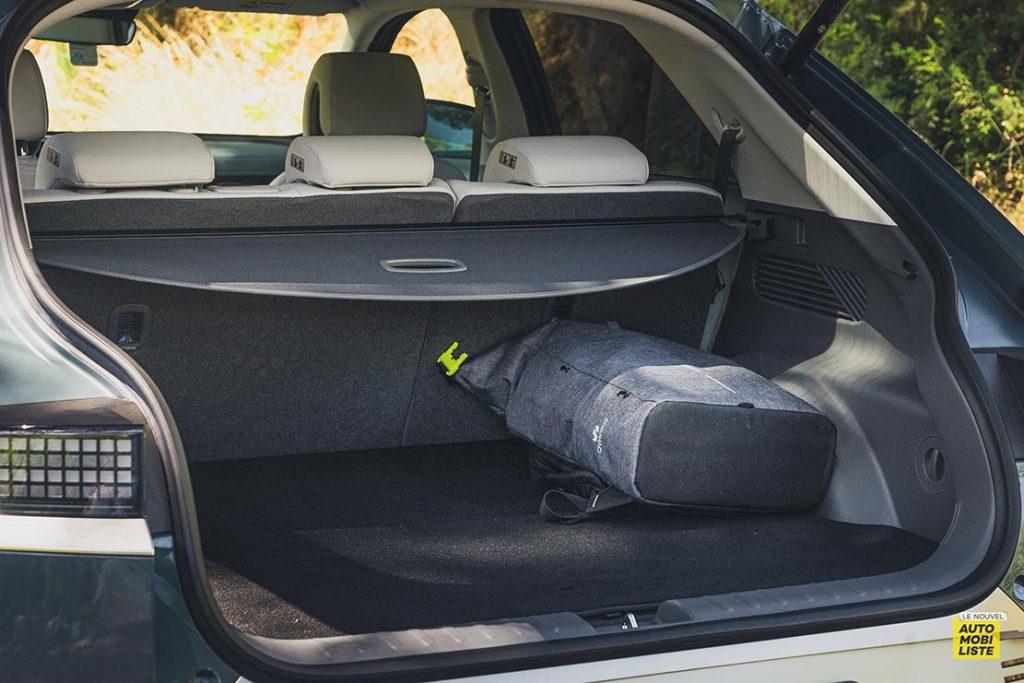 Essai Hyundai Ioniq 5 HTRAC Executive 73kW Digital Teal Green Coffre