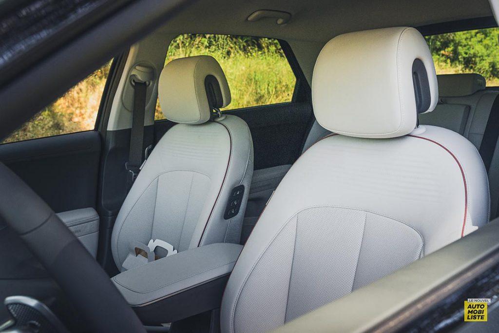 Essai Hyundai Ioniq 5 HTRAC Executive 73kW Digital Teal Green Siege avant