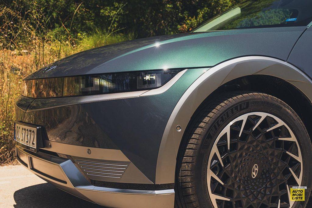 Essai Hyundai Ioniq 5 HTRAC Executive 73kW Digital Teal Green jantes 20 pouces