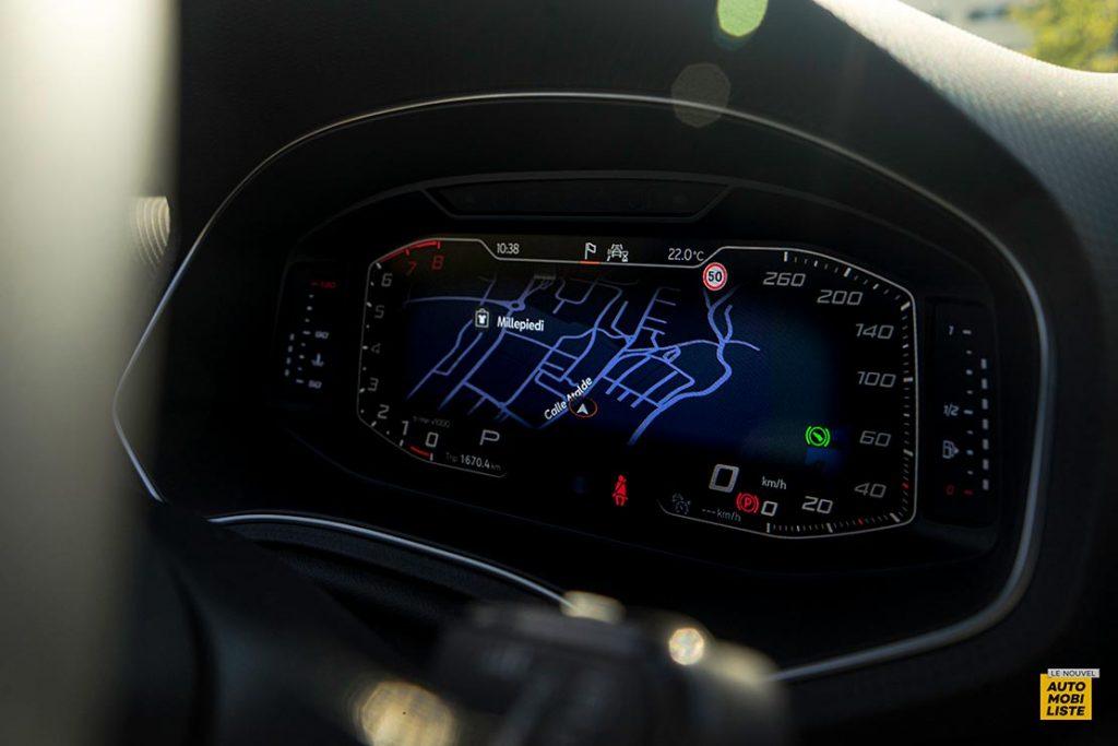 Essai Seat Arona restyle TSI 110ch DSG 7 Bi ton Gris Camouflage Virtual cockpit