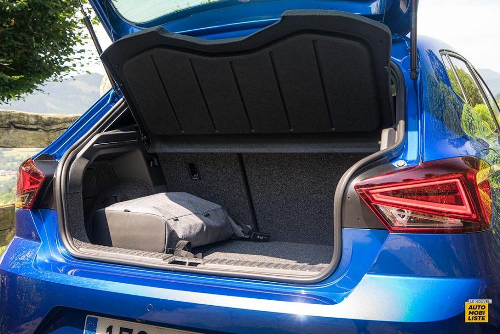 Essai Seat Ibiza restyle XPerience TSI 110ch BVM6 Bleu Coffre