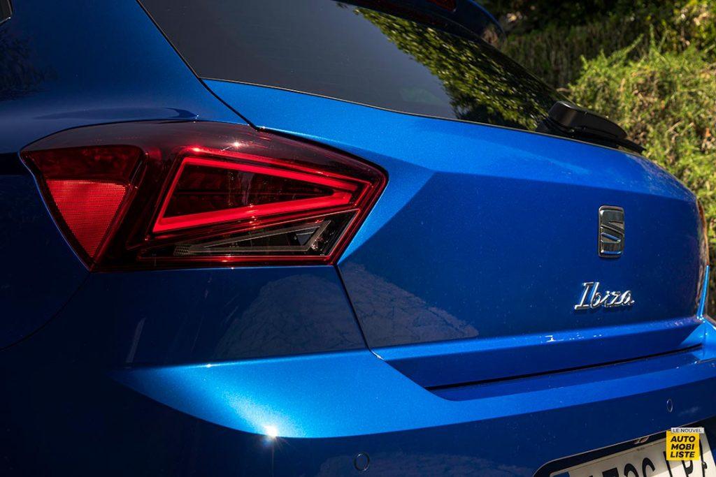 Essai Seat Ibiza restyle XPerience TSI 110ch BVM6 Bleu Detail face arriere