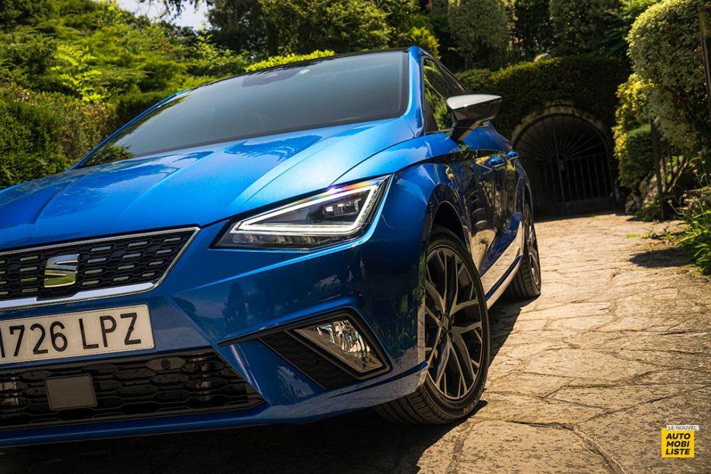 Essai Seat Ibiza restyle XPerience TSI 110ch BVM6 Bleu Detail face avant