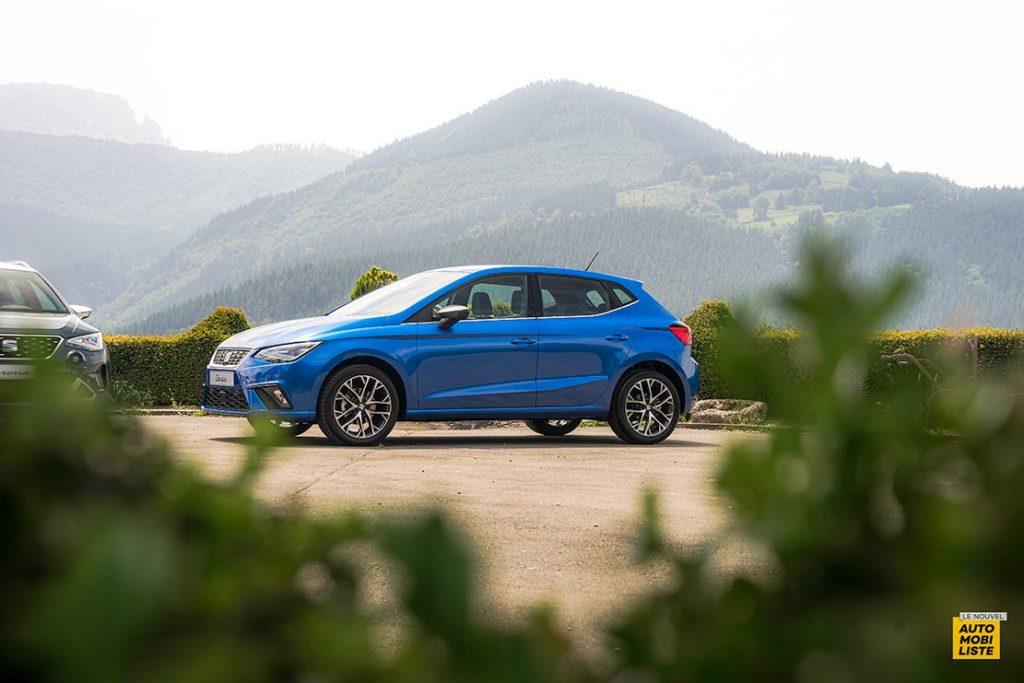 Essai Seat Ibiza restyle XPerience TSI 110ch BVM6 Bleu Silhouette
